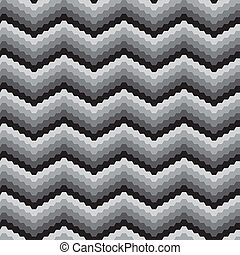 Black&white zigzags