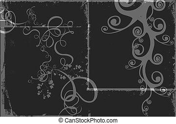black&whitebackground, black&white, grafické pozadí