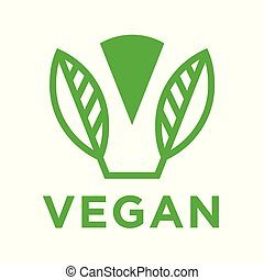 blad, abstract, moderne, vegan, logo, pictogram