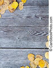 blad, achtergrond, herfst