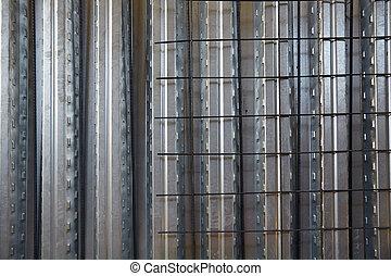 blad, beton, metaal, formwork, plak, versterkte