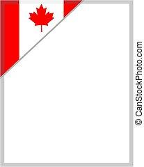 blad, canadese vlag, hoek, grens, esdoorn