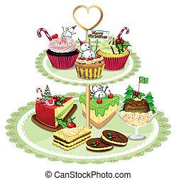 blad, goederen, geschikte, bakt