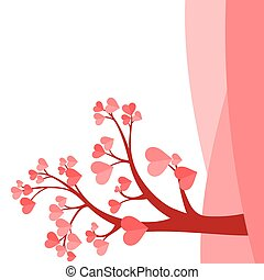 blad, härd, form, träd