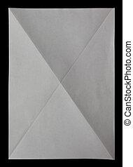 blad, ineengevouwen , vier, papier, black , witte , diagonaly