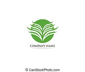 blad, natur, lotus, illustration, vektor, logo