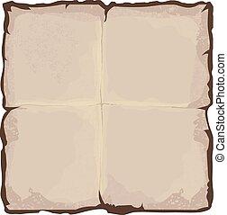 blad, papier, oud