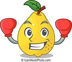 blad, rijp, boxing, karakter, fruit, kweepeer