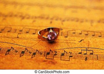 blad, ring, muziek