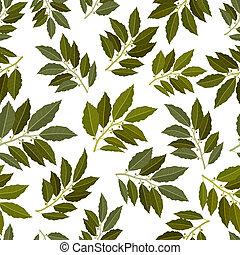 blad, seamless, textuur, baai