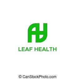 blad, vektor, sundhed, logo