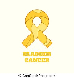 Bladder cancer awareness papercut ribbon
