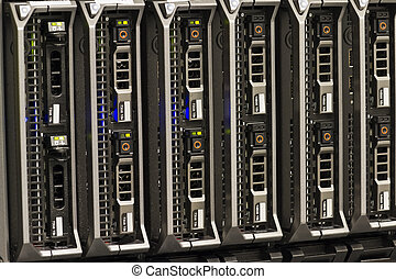 Blade Servers - Blade servers in a blade chassis in a rack....