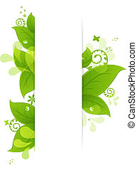 bladen, droppar, naturlig, bakgrund
