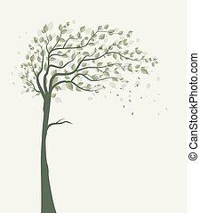 bladeren, boompje