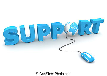 bladeren, de, globaal, steun, -, blauwe