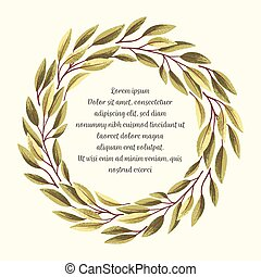 bladeren, frame-03, groene