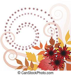 bladeren, herfst, krullen