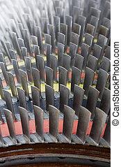 Blades of a jet-turbine