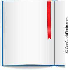 bladwijzer, boek, open