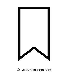 bladwijzer, lijn, vector, pictogram