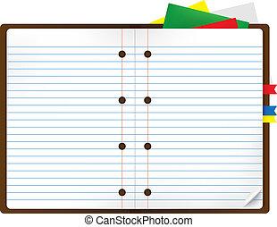 bladwijzer, notepads, aantekenboekje