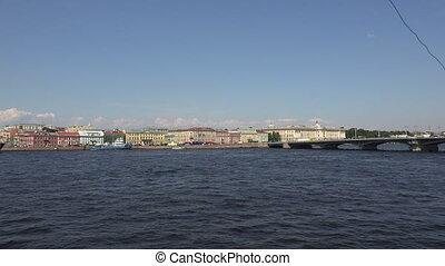 Blagoveshchensky drawbridge. Saint-Petersburg.