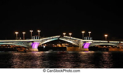 Blagoveshensky bridge over Neva riv