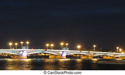 Blagoveshensky bridge over Neva