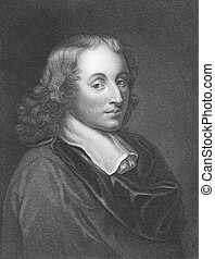 Blaise Pascal (1623-1662) on engraving from the 1800s....