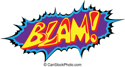 Blam Funny Comic Text Expression