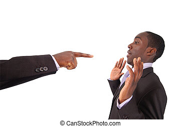 Blame that Guy!!! - This is an image of a hand pointing at a...