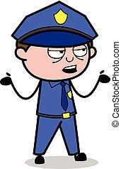 Blameless - Retro Cop Policeman Vector Illustration