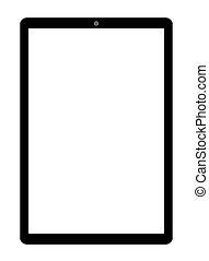 blanc écran, tablette