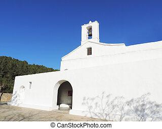 blanc, église