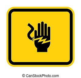 blanc, électrocution, isoler, étiquette, fond, choc, .eps10,...