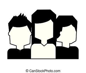 blanc, équipe, groupe, gens arrière-plan