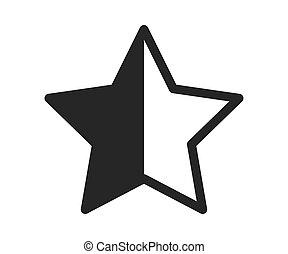blanc, étoile, gratuite, icône