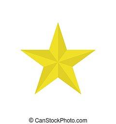 blanc, étoile, isolé, arrière-plan., illustration, vecteur, icône