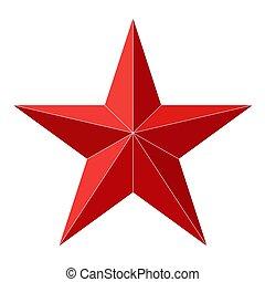 blanc, étoile, isolé, arrière-plan., vecteur, illustration.
