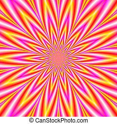 blanc, étoile, jaune rouge, violet
