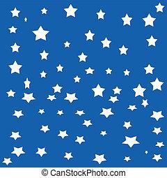 blanc, étoiles