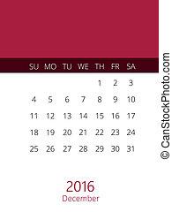 blanc,  2016, calendrier, année