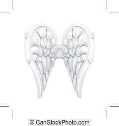 blanc, ailes, ange