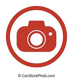blanc, appareil photo, fond, icône