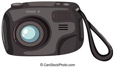 blanc, appareil photo, fond, numérique