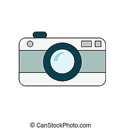 blanc, appareil photo, retro, fond
