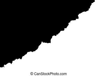 blanc, arrière-plan noir