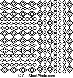 blanc, arrière-plan noir, géométrique