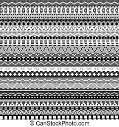 blanc, arrière-plan noir, motifs, africaine